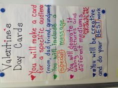 Valentines day anchor chart - students made vday cards and I linked it to media literacy Media Literacy, Anchor Charts, Grade 1, Classroom Ideas, Valentines Day, Students, Tech, Messages, Teaching