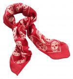 Red Silk Skull Scarf - Outfit 274
