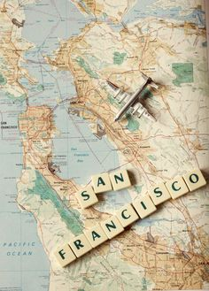 San Francisco map art airplane art photography by Andrekart