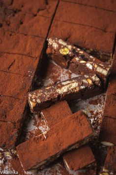 English Fridge Cake Bars-chocolate, biscuits, pistachios and many more great things!