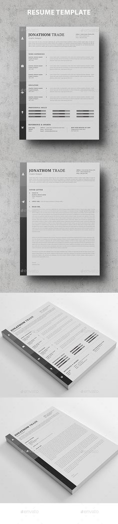 Professional Resume Template Bundle CV Package with Cover - paper for resume