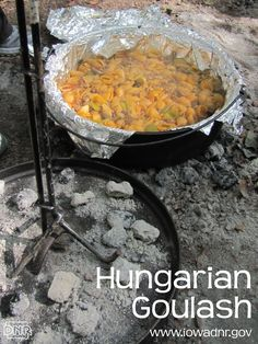 Hungarian goulash for the Dutch oven...yum!  #camping #recipe #dutchoven