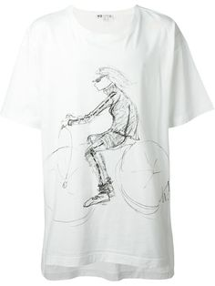 Y-3 Sketch Print T-Shirt. #y-3 #cloth #t-shirt