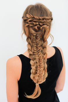 Layered Braid Hairstyle Tutorial — Luxy Hair Blog - All about hair!