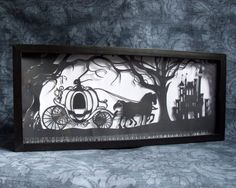Cinderella's Dream Original Handcut Papercut. I find these so impressive