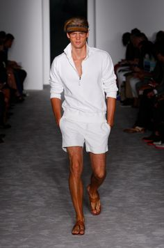 Michael Bastian Spring/Summer 2013 - My Man in this? YES! Please! o;P Haha! The visor can go though.
