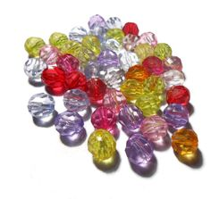 Acrylic Beads Resin Beads Mix Color Plastic Faceted Beads Jewelry findings Diy Jewelry supplies Craft supplies by Neda Diy Jewelry Supplies, Jewelry Crafts, Craft Supplies, Plastic Bead Crafts, Plastic Beads, Etsy Jewelry, Beaded Jewelry, Jewellery, Etsy Handmade