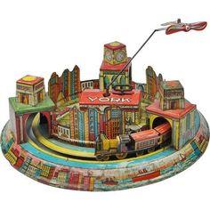 Louis Marx Tin Wind up Toy, NY Skyline, 1928