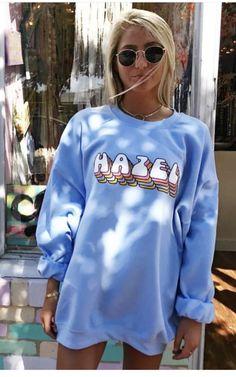 Cute Comfy Outfits, Preppy Outfits, Fall Fashion Outfits, Cute Summer Outfits, Grunge Outfits, Sweat Shirt, Pijamas Women, Sweatshirt Outfit, Graphic Sweatshirt