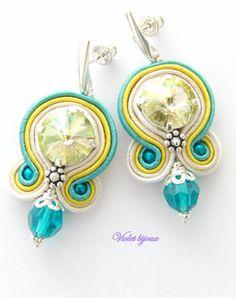 Helene soutache earrings by Violetbijoux on Etsy, $59.00