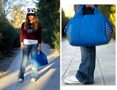 blue MCM Mcm Bags, My Jeans, Sporty Chic, Love At First Sight, Spring Collection, My Beauty, Blue, Shirts, Inspiration