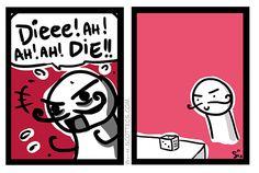 Die. I Laughed, I Am Awesome, Comics, Cute, Comic Books, Comic Book, Comic, Cartoons, Comic Art