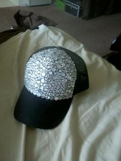 bedazzled waterproof hat by crzy4bling on Etsy, $15.00