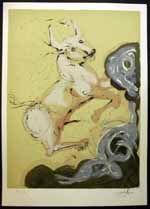 Salvador Dali - Twelve Signs (12) of the Zodiac Illustrated Book ~ Taurus