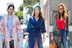 Kimono-Varianten im Streetstyle-Look