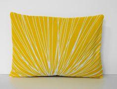 Starburst+Yellow+Lumbar+Pillow+Cover++Decorative+by+pillows4fun,+$20.00