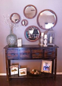 Entryway. Adjusted Balin Console Table | Do It Yourself Home Projects from Ana White