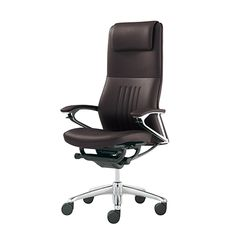 Okamura (Japan)The Artistry of Leather Seating.The fully upholstered leather executive chair is a ti Executive Chair, Timeless Classic, Office Chairs, Brown Leather, Furniture Design, Tables, Desk, Interior Design, Modern