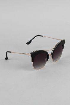 Double Nose Bridge Clubmaster Sunglasses