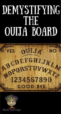 Trance Channel Lori Camacho demystifies the use of the ouija board and gives advice on proper use