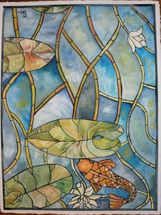 Watercolor to look like stained glass