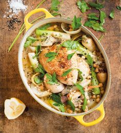 This Provençal-style one-pot wonder is both wholesome and mouthwateringly delicious. Slowly simmer a whole chicken or chicken portions, onions, leeks,  parsnips, garlic, lemon zest and juice