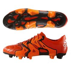 new styles 571d5 bd02e 144.95 - Adidas X 15.1 FG AG (Leather) Soccer Cleats (Solar Orange Black Bold  Orange)   Adidas Soccer Cleats   FREE SHIPPING   B26980   Adidas X soccer  ...