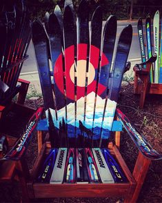 Wolf Colorado Mountain Mural adirondack ski chair