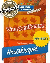 Miljonlotteriet (miljonlotteriet) på Pinterest