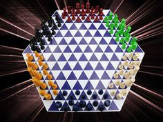 Harmegedo is chess for 2 to 6 players, played on a hexagon shaped game board with triangular spaces. There are now 2 queens, 2 bishops, 2 knights, 2 rooks, 9 pawns and 1 king per kingdom. Each king stands between 2 queens at the center of each player's home row. Moves are based upon each player's forward perspective meaning that your forward, left and right are not the same as the players next to you. Their forward perspective is different than yours. Pay close attention to their moves.