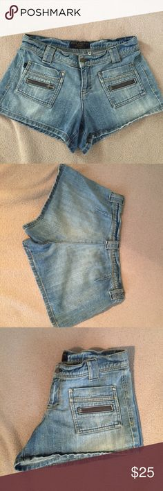 Juicy Couture Jean shorts size M, no flaws, ships today💕 Juicy Couture Shorts Jean Shorts