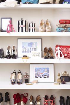 Shoe organization and display | theglitterguide.com