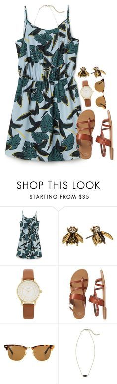 """""""Summer's a comin' """" by flroasburn on Polyvore featuring Lacoste L!VE, Marc Jacobs, Kate Spade, Gap, Ray-Ban and Kendra Scott"""