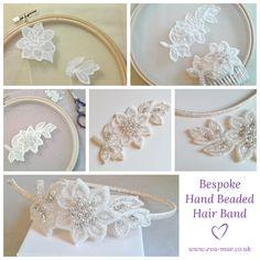 Bespoke Hand Beaded Hair Band - Handmade by Eva-Mae Jewellery