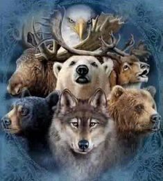 Native american picture art of animals | Native American Animal Legends: Grandmother's Creation Story | Native ...