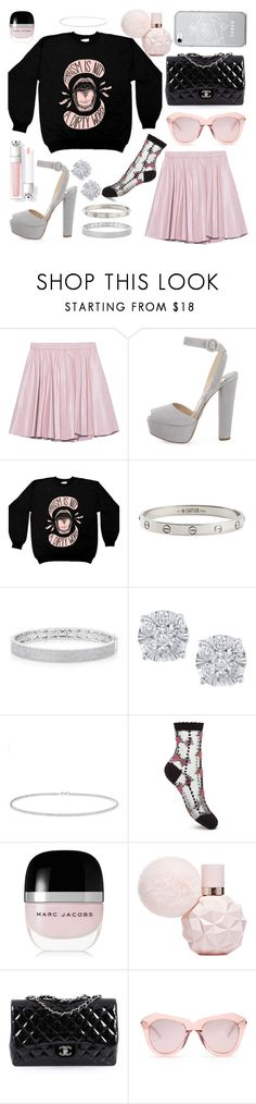 """""""I'm so greedy, ooh"""" by that-one-basic-girl ❤ liked on Polyvore featuring 2NDDAY, Prada, Cartier, Anne Sisteron, Effy Jewelry, Miss Selfridge, Marc Jacobs, Chanel, Karen Walker and ari"""