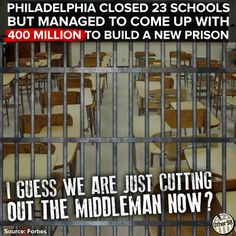 If we invest in education, maybe we wouldnt need more prisons... just a thought!