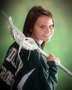 Senior picture for a lacrosse player