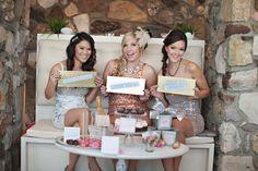 Glam bachelorette party.