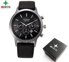 NORTH Brand Mens Watches - AuhaShop Men's Watch Affordable Cheap Fashion Products Website Black