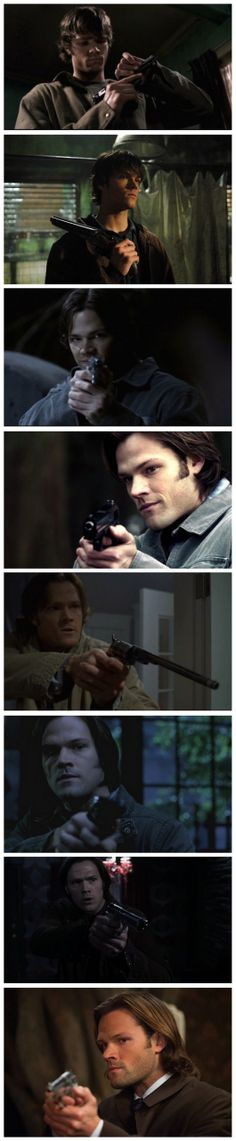 Sam and guns throughout the years. #SPN #Sam