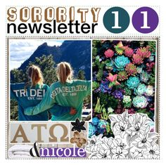 """sorority newsletter 11 ♡"" by sorority-of-polyvore ❤ liked on Polyvore featuring art and tipsbyblondie"