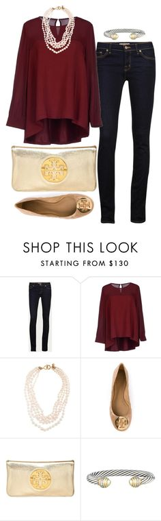 """""""Excited to announce that I will be attending Texas A&M University next Fall!!"""" by pretty-and-preppy ❤ liked on Polyvore featuring J Brand, Roberto Collina, J.Crew, Tory Burch and David Yurman"""