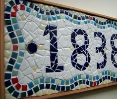 5Digit Custom Mosaic House Number by jenniestephensart on Etsy, $130.00