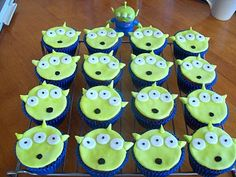 alien c/cakes - toy story - I have got to make these for Kaden when he comes or when I go to see him!!!