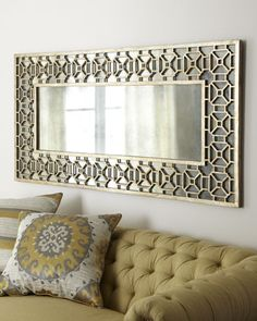 Champagne Overlay Mirror at Horchow. Hang 3 of these length wise = room divider circa 1965