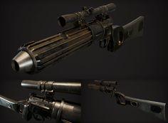 ArtStation - Boba Fett - Carabine Blastech EE3, Manuel Capitani