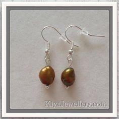 Genuine pearl earrings handmade
