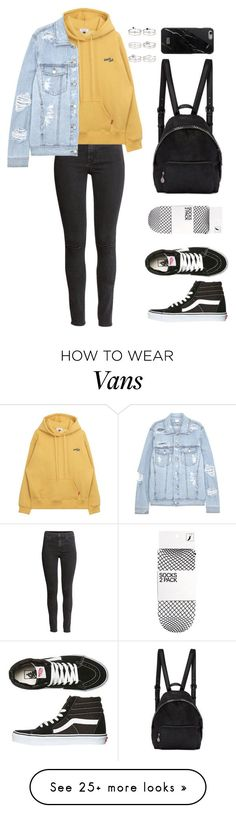 """Untitled #141"" by manerefortis on Polyvore featuring H&M, SJYP, Vans, STELLA McCARTNEY, Native Union and Miss Selfridge #schooloutfits"