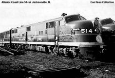 Atlantic Coast Line 514, E6A, Class DEP, was built in January 1941, #1154, FN E335-A13.  It became SCL 514 in July 1967.